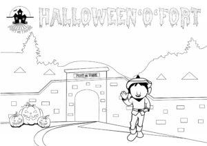 Coloriage halloween pour concours de dessin