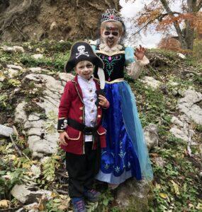 Enfants déguisés halloween Fort de Tamié